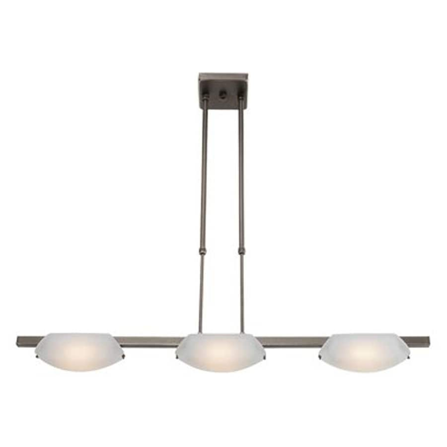 Access Lighting Nido 5-in W 3-Light Oil-Rubbed Bronze Standard Kitchen Island Light with Frosted Shade