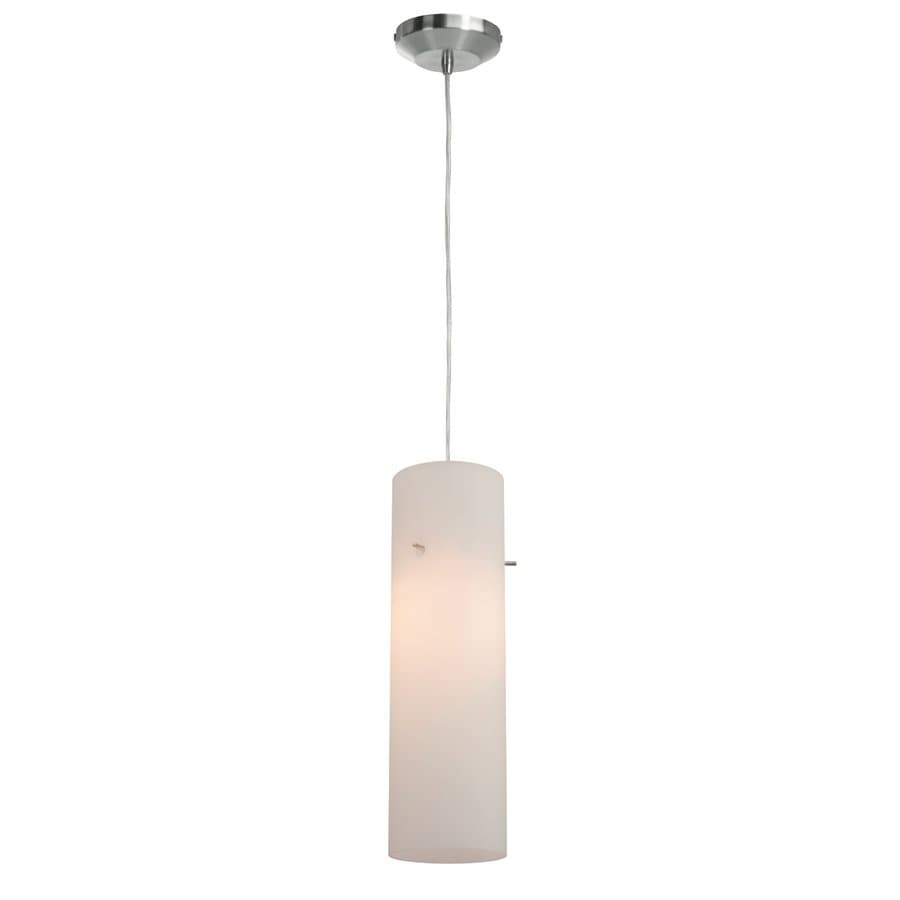 Access Lighting Anari Silk 3-in Brushed Steel Mini Cylinder Pendant