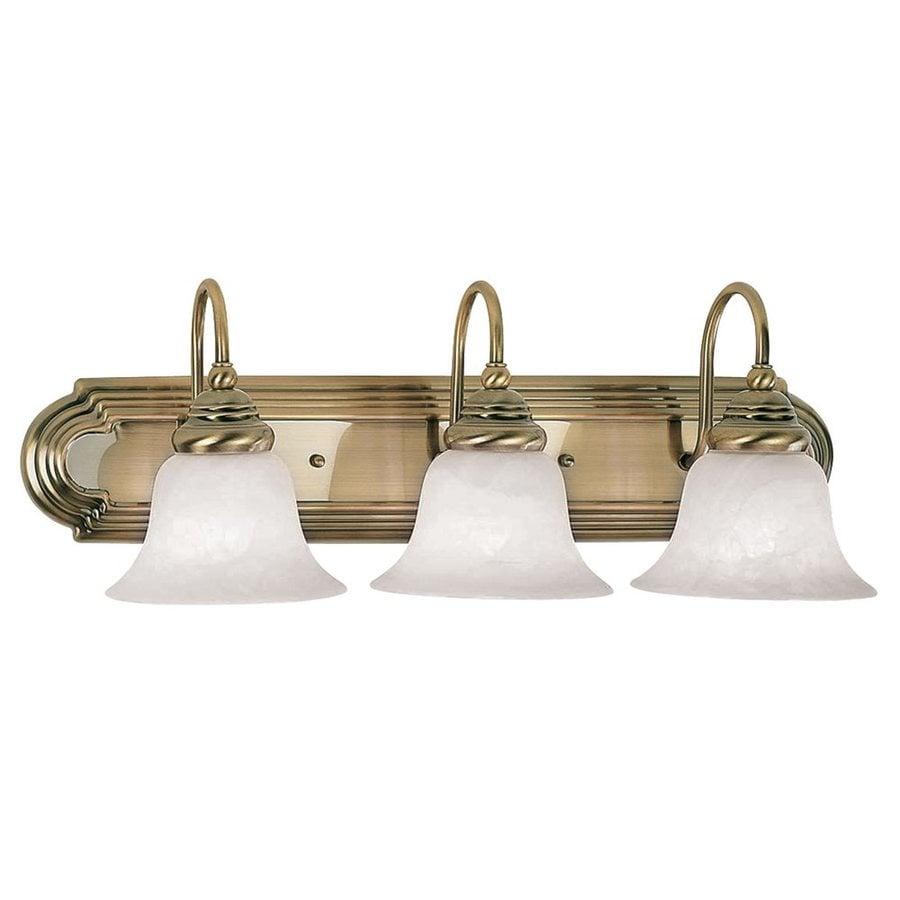 Livex Lighting Belmont 3-Light Antique Brass Vanity Light