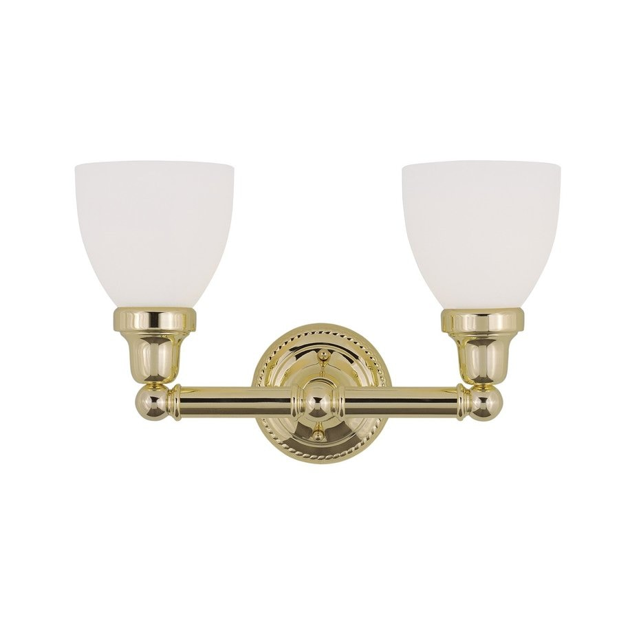 Bathroom Vanity Lights Brass: Shop Livex Lighting 2-Light Classic Polished Brass