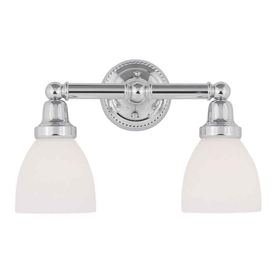 Livex Lighting Classic 2-Light 10-in Chrome Bell Vanity Light