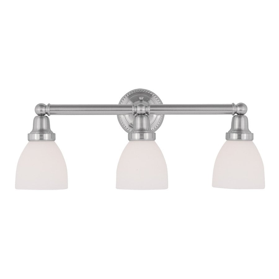 Livex Lighting Classic 3-Light 10-in Brushed Nickel Bell Vanity Light