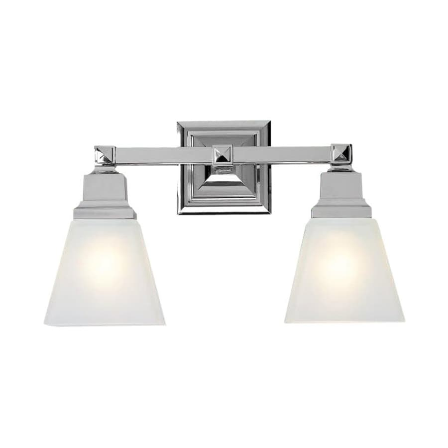 bathroom vanity light shop livex lighting 2 light mission chrome bathroom vanity 11915