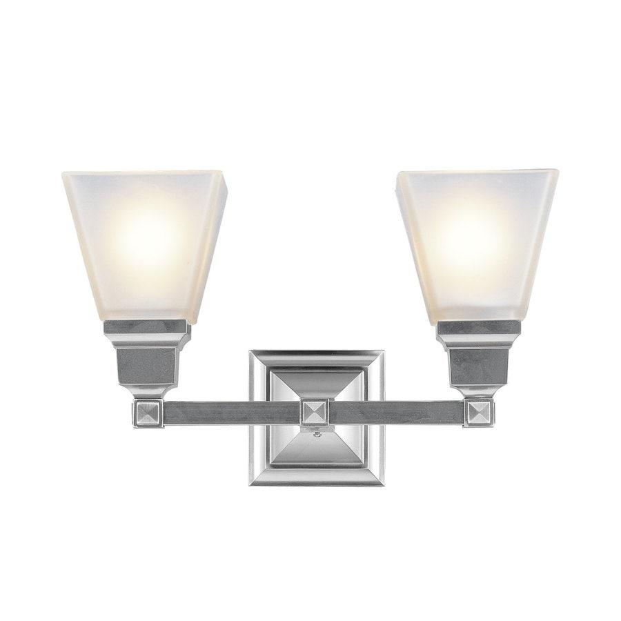 Livex Lighting Mission 2-Light 9.5-in Brushed Nickel Bell Vanity Light