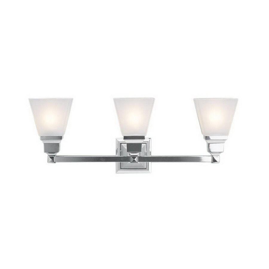 Livex Lighting 3-Light Mission Chrome Bathroom Vanity Light