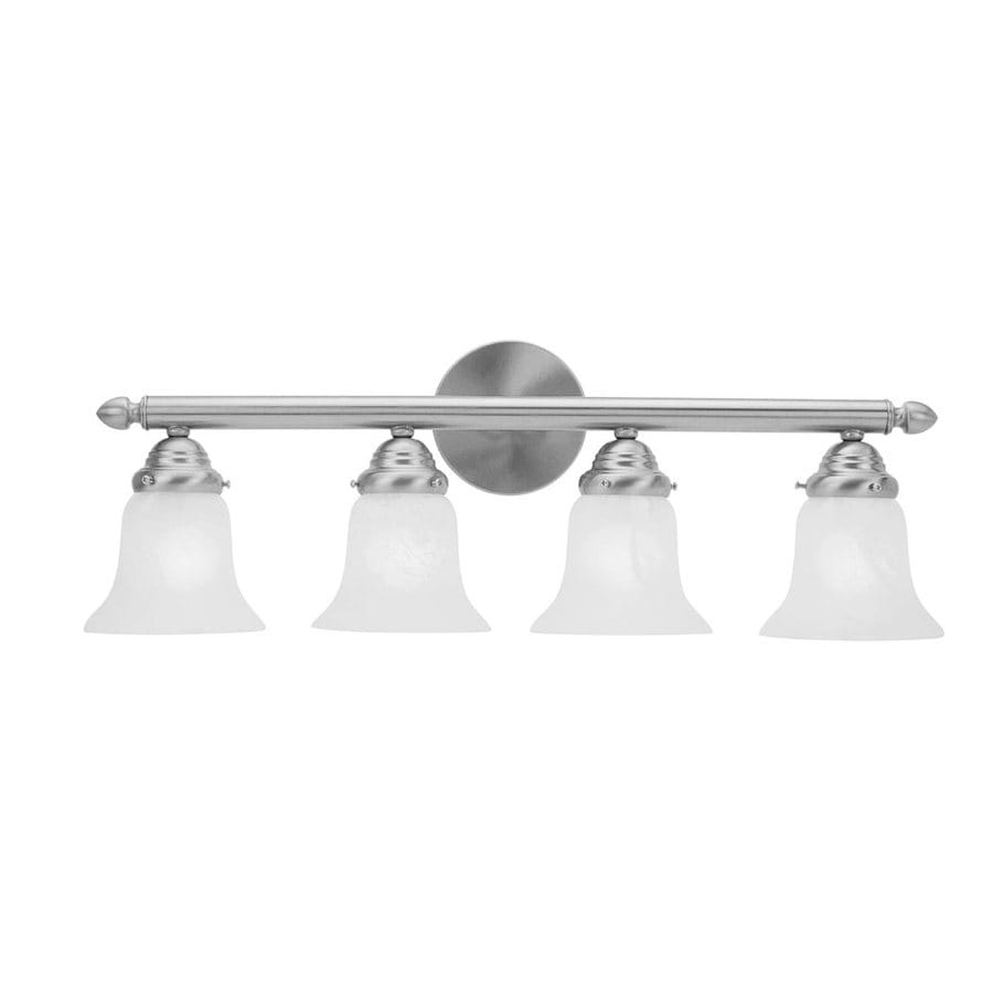 Livex Lighting Home Basics 4-Light Brushed Nickel Bell Vanity Light