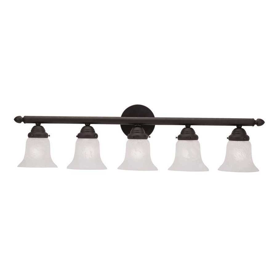 Livex Lighting Home Basics 5-Light 8-in Bronze Bell Vanity Light