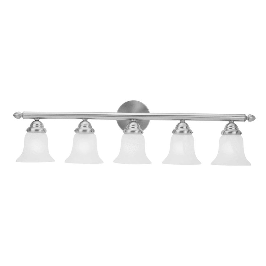 Livex Lighting Home Basics 5-Light Brushed Nickel Bell Vanity Light