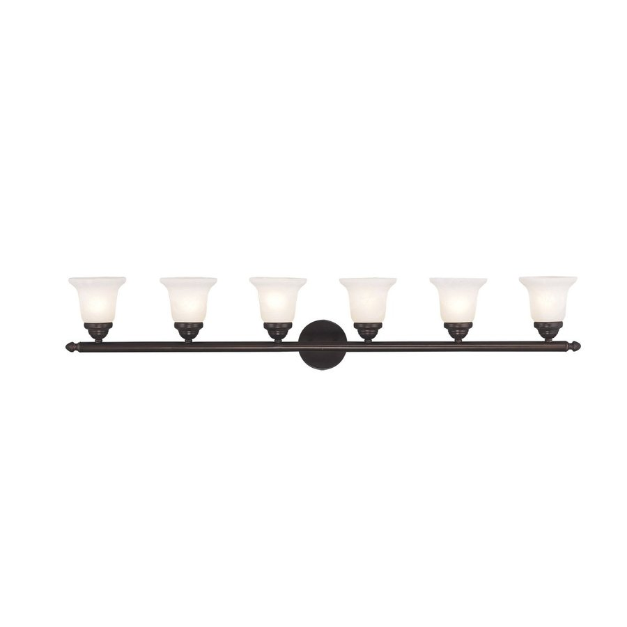 Livex Lighting Neptune 6-Light 8-in Bronze Bell Vanity Light