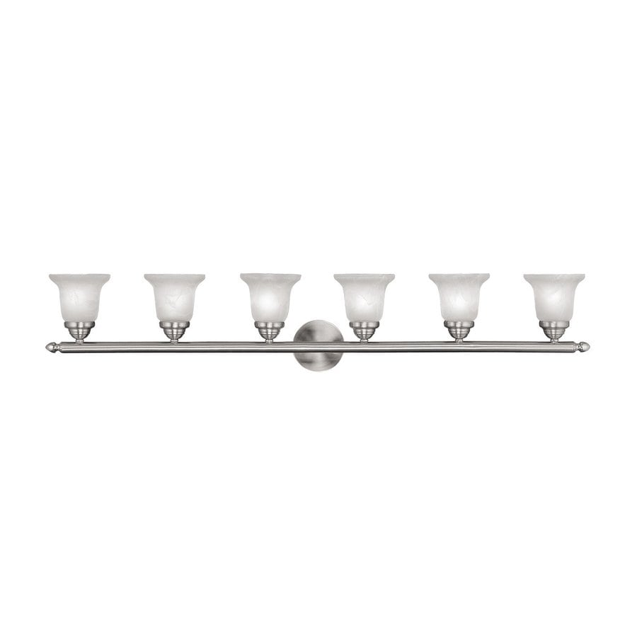 Livex Lighting Neptune 6-Light 8-in Brushed Nickel Bell Vanity Light