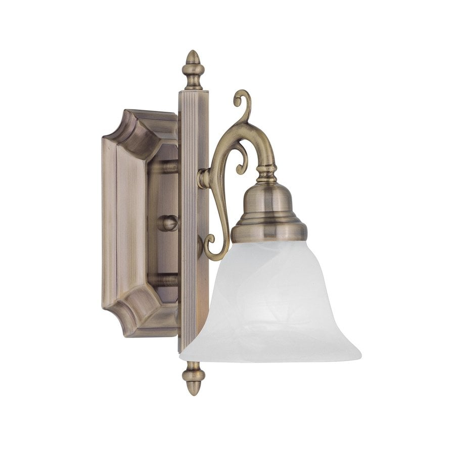 Shop Livex Lighting French Regency 6-in W 1-Light Antique Brass Arm Wall Sconce at Lowes.com