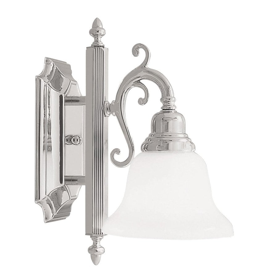 Livex Lighting French Regency 6-in W 1-Light Chrome Arm Wall Sconce