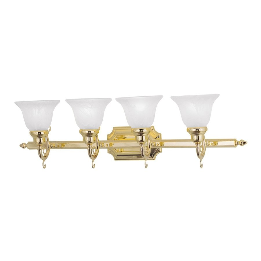Livex Lighting French Regency 4-Light 9.25-in Polished Brass Bell Vanity Light