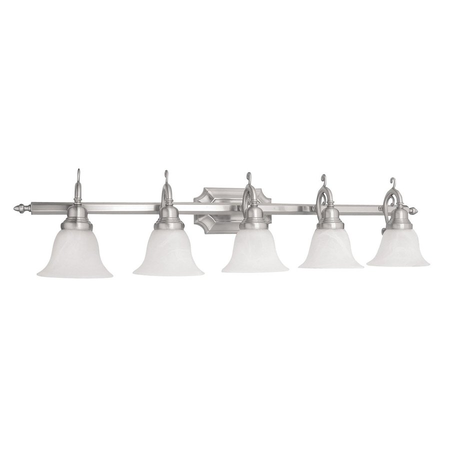 Livex Lighting French Regency 5-Light 9.25-in Brushed Nickel Bell Vanity Light