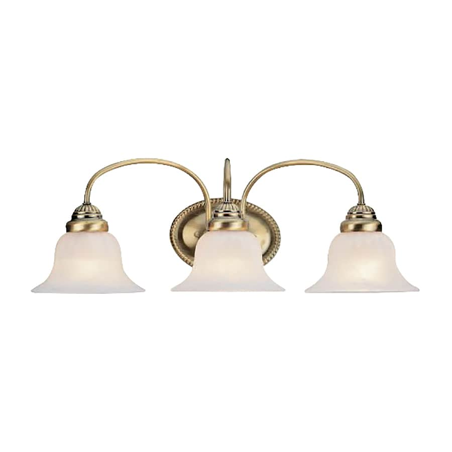 Livex Lighting Edgemont 3-Light Antique Brass Bell Vanity Light