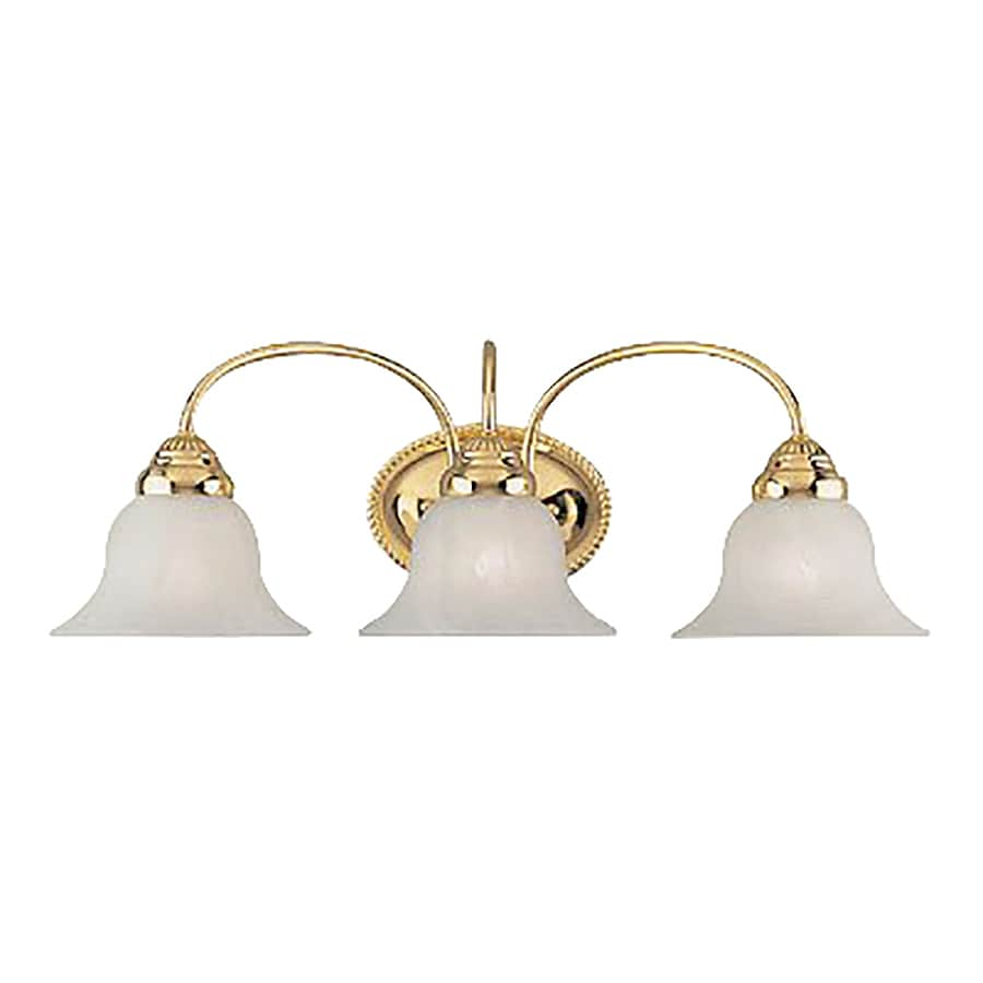 Vanity Lighting Polished Brass : Shop Livex Lighting Edgemont 3-Light 8-in Polished brass Bell Vanity Light at Lowes.com