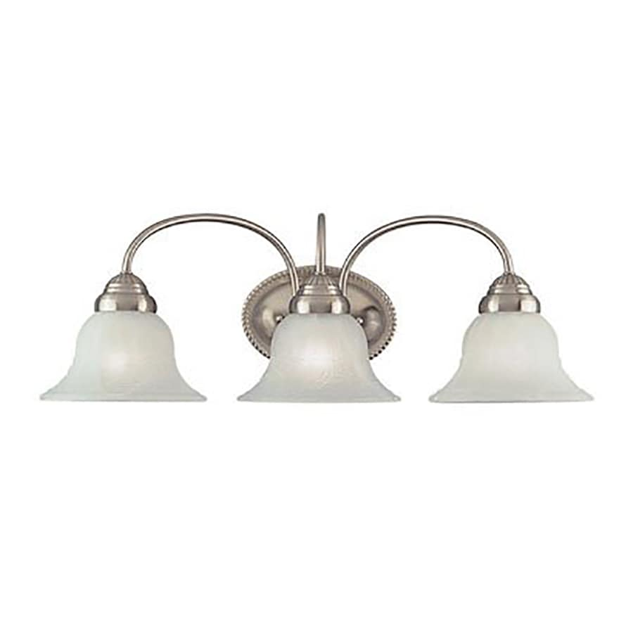 Livex Lighting Edgemont 3-Light 8-in Brushed Nickel Bell Vanity Light