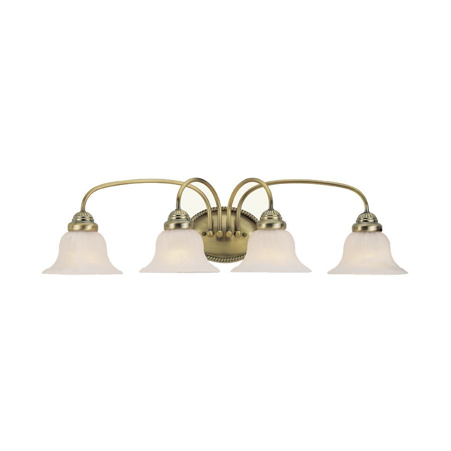 Livex Lighting Edgemont 4-Light 8.5-in Antique Brass Bell Vanity Light