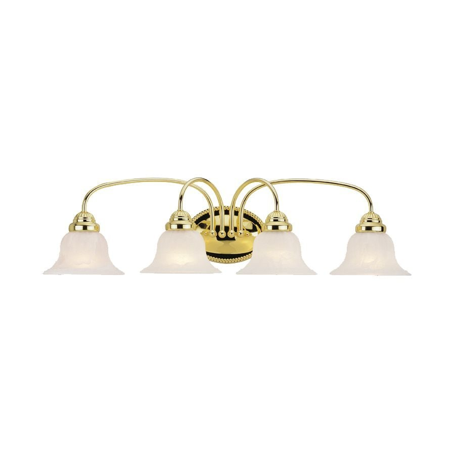 Livex Lighting Edgemont 4-Light 8.5-in Polished brass Bell Vanity Light