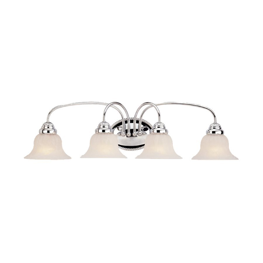 Livex Lighting Edgemont 4-Light 8.5-in Chrome Bell Vanity Light