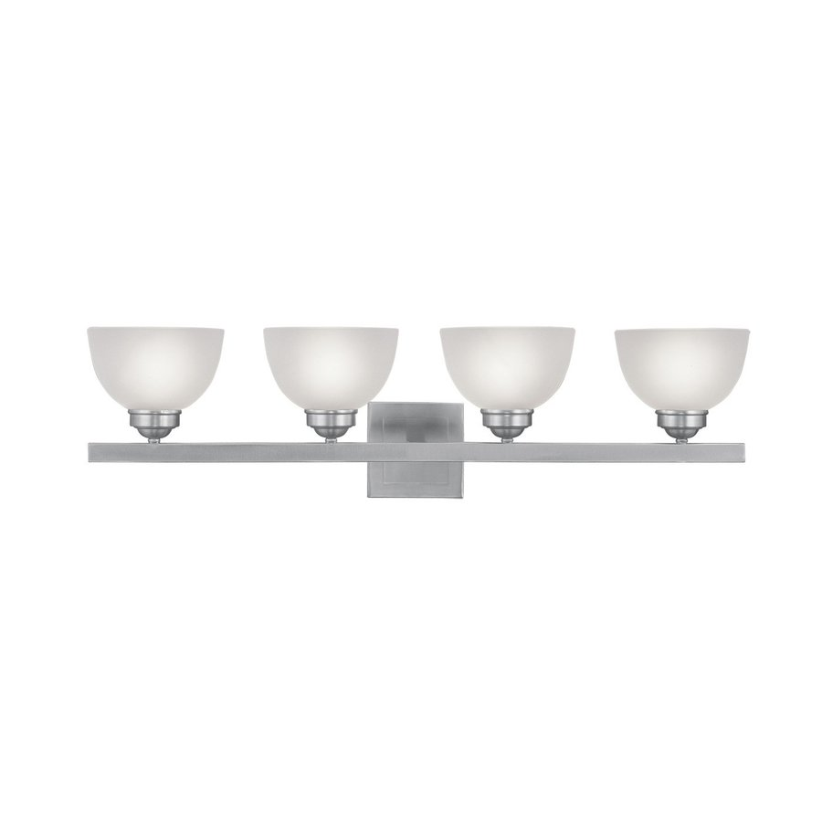 Livex Lighting Somerset 4-Light 9-in Brushed Nickel Dome Vanity Light