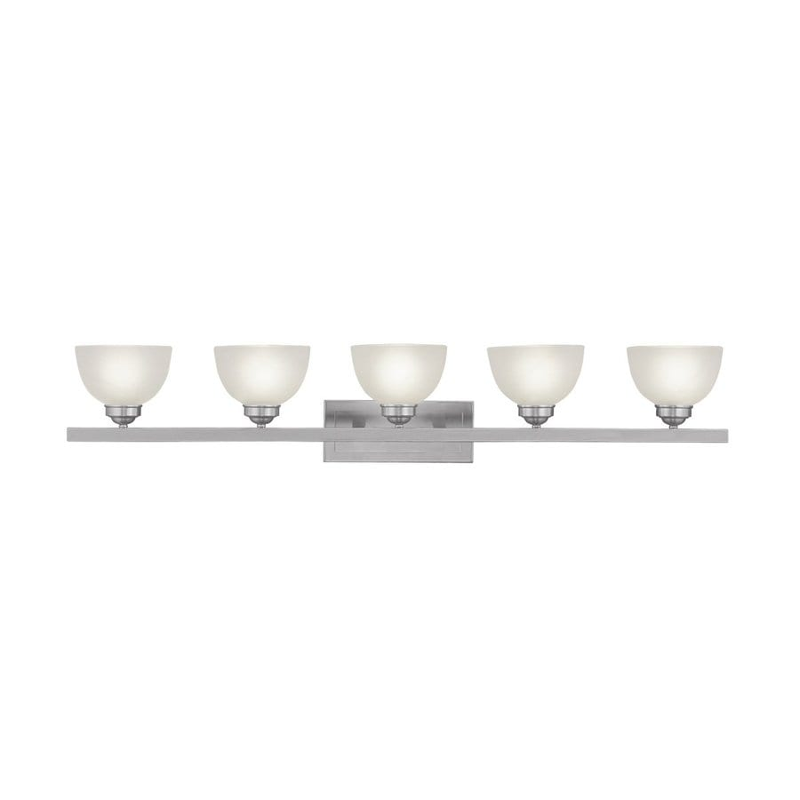 Livex Lighting Somerset 5-Light Brushed Nickel Bell Vanity Light