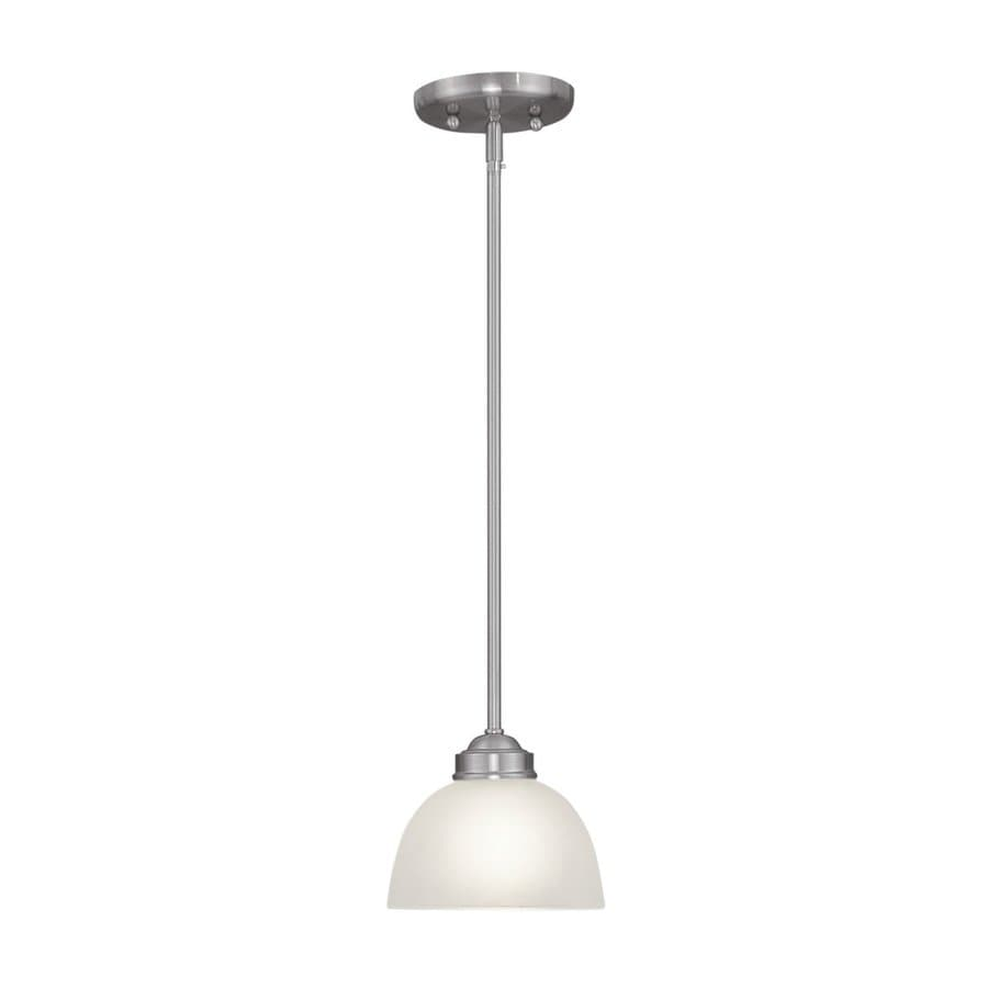 Livex Lighting Somerset 6.5-in Brushed Nickel Mini Bell Pendant