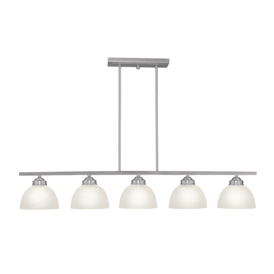 Shop Livex Lighting Somerset In W Light Brushed Nickel Kitchen - Brushed nickel kitchen light fixtures