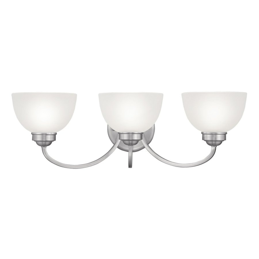 Livex Lighting Somerset 3-Light 9-in Brushed Nickel Dome Vanity Light