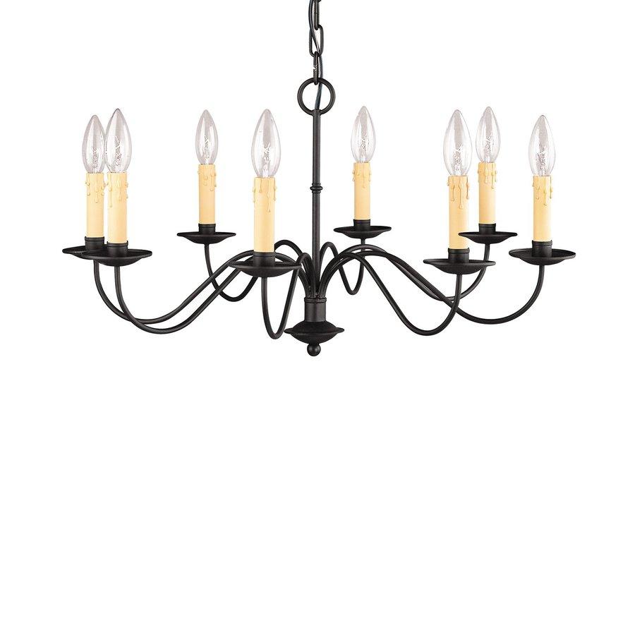 Livex Lighting Heritage 25-in 8-Light Black Candle Chandelier