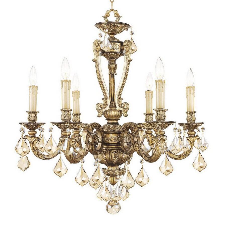 Shop livex lighting chateau 6 light vintage gold leaf chandelier at livex lighting chateau 6 light vintage gold leaf chandelier arubaitofo Choice Image