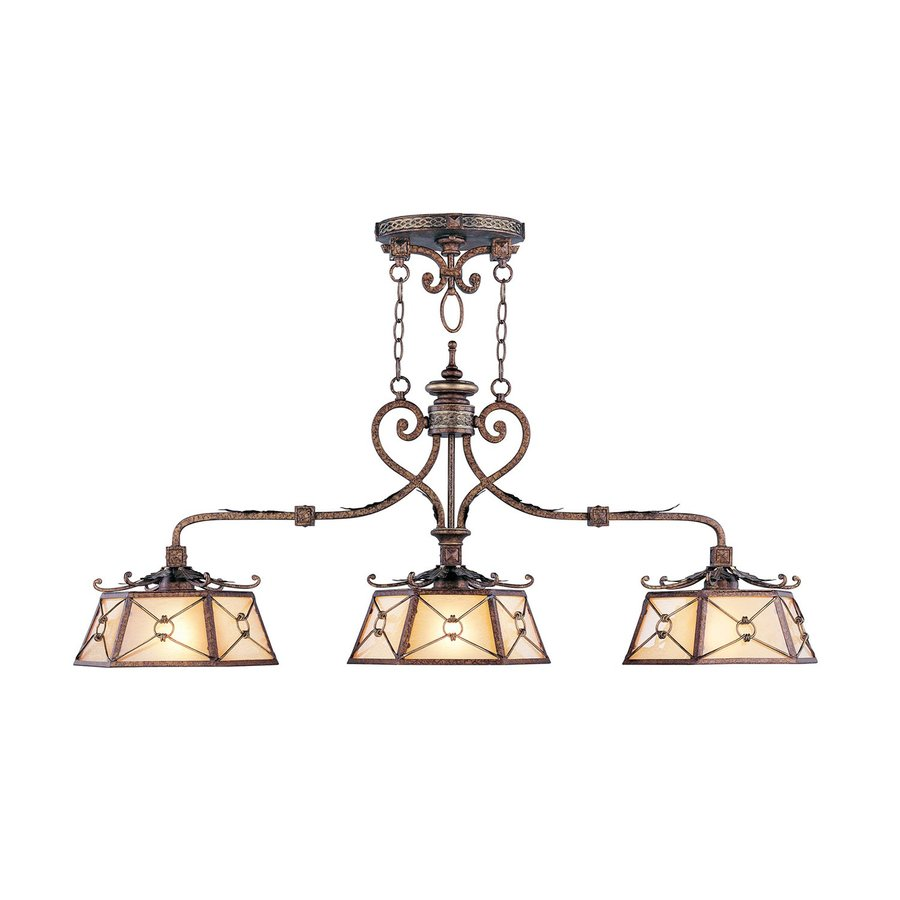 Livex Lighting Bristol Manor 12-in W 3-Light Palacial Bronze Kitchen Island Light with Shade