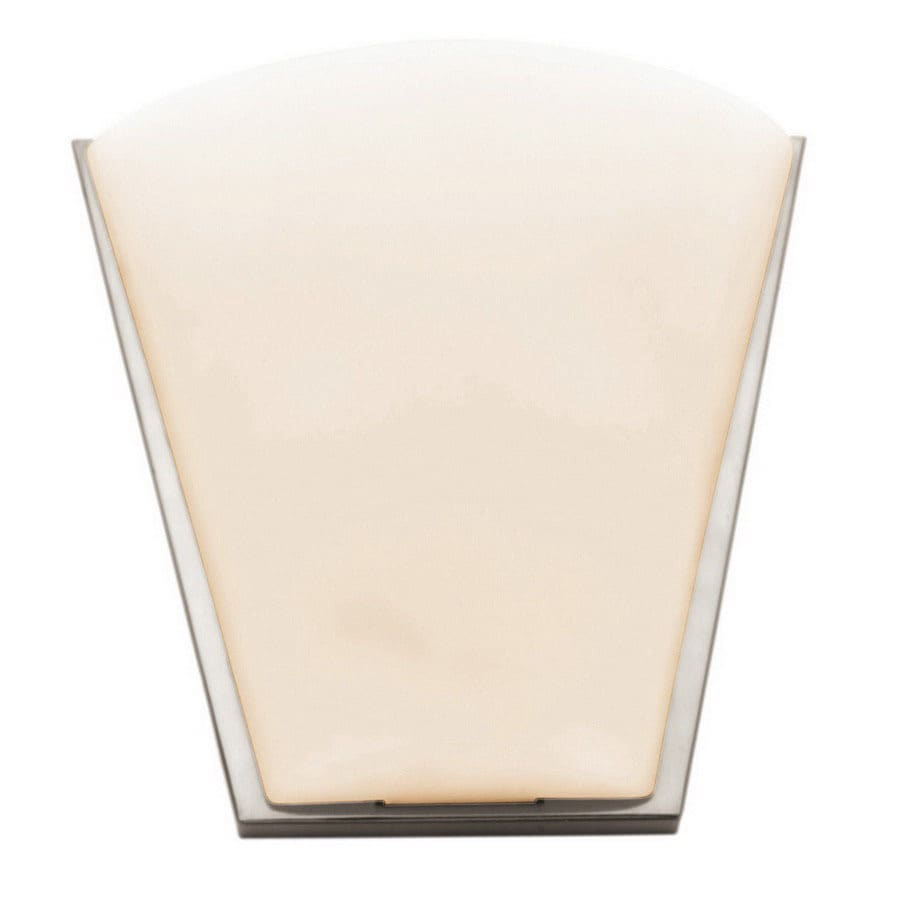Access Lighting Artemis 13.75-in W 1-Light Brushed Steel Pocket Hardwired Wall Sconce