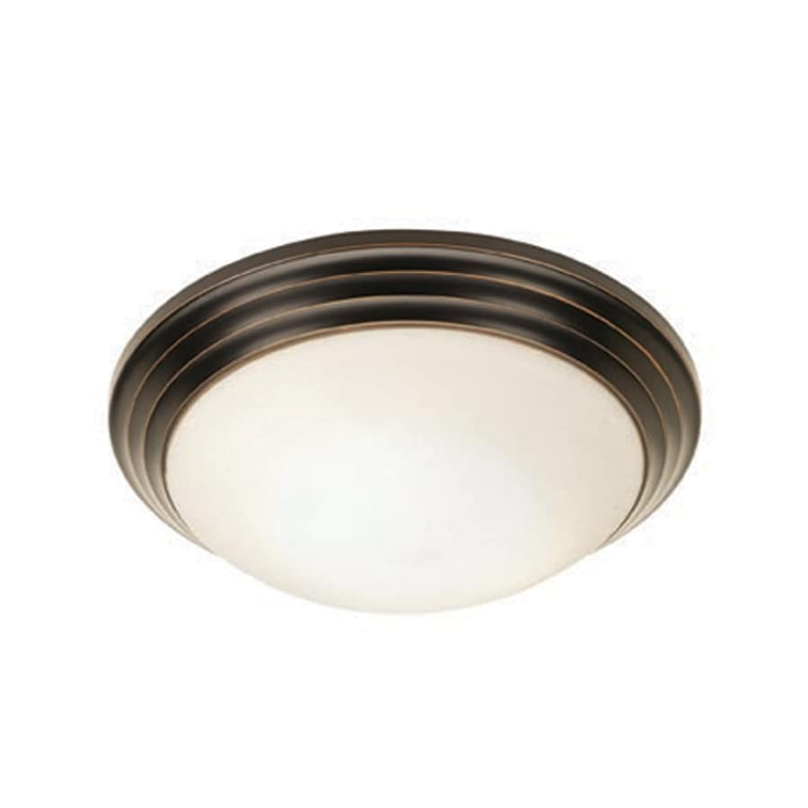 Access Lighting Strata 14-in W Oil Rubbed Bronze Flush Mount Light
