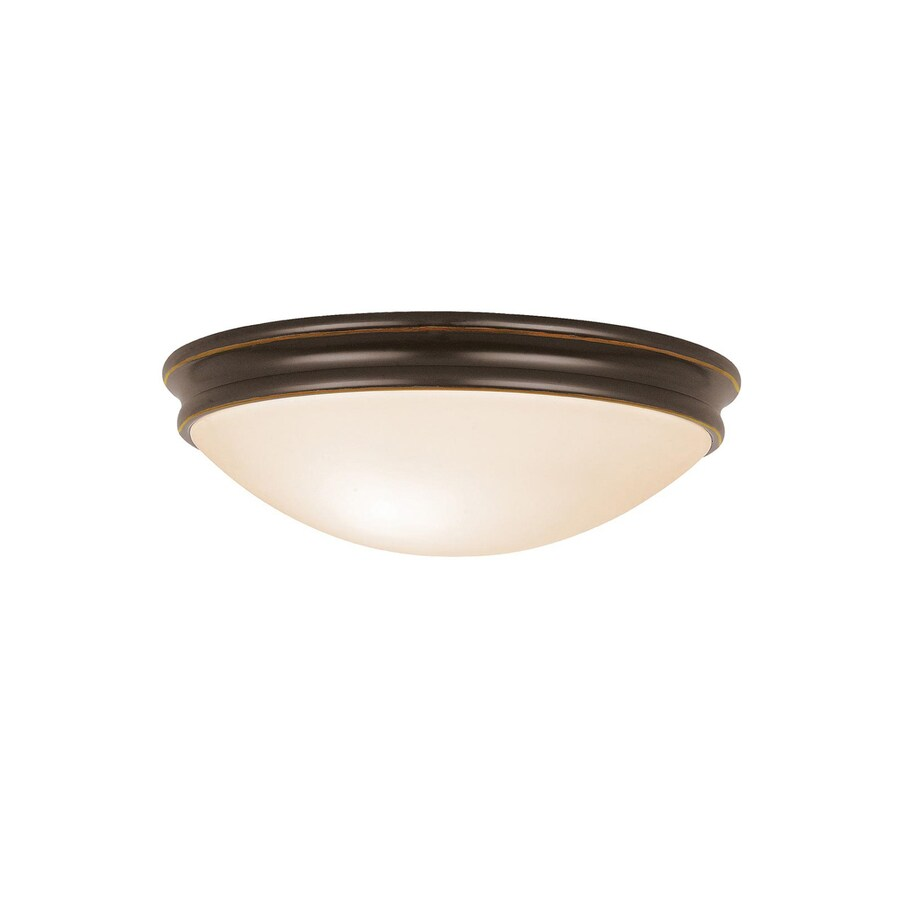 Access Lighting Atom 10.5-in W Oil rubbed bronze Flush Mount Light