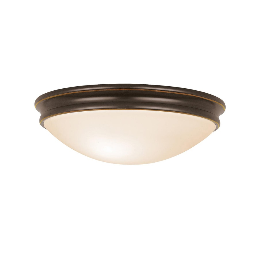 Access Lighting Atom 12.5-in W Oil rubbed bronze Flush Mount Light