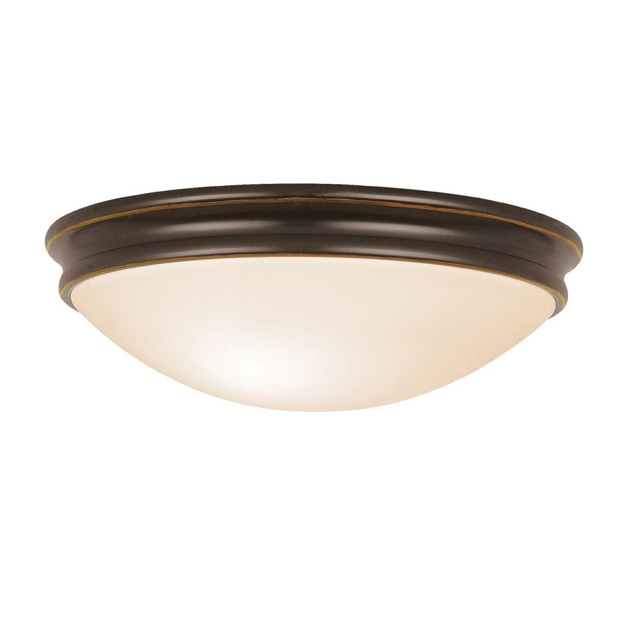 Access Lighting Atom 14-in W Oil Rubbed Bronze Flush Mount Light