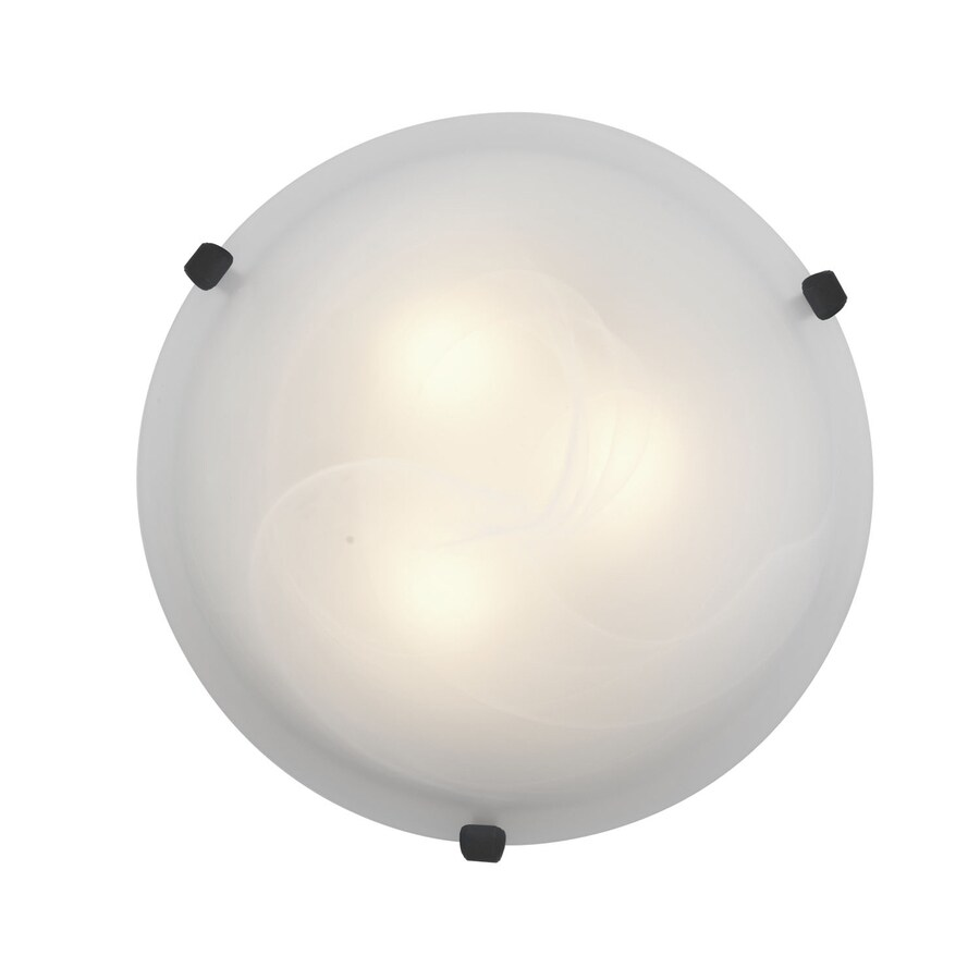 Access Lighting Mona 16-in W Rust Flush Mount Light