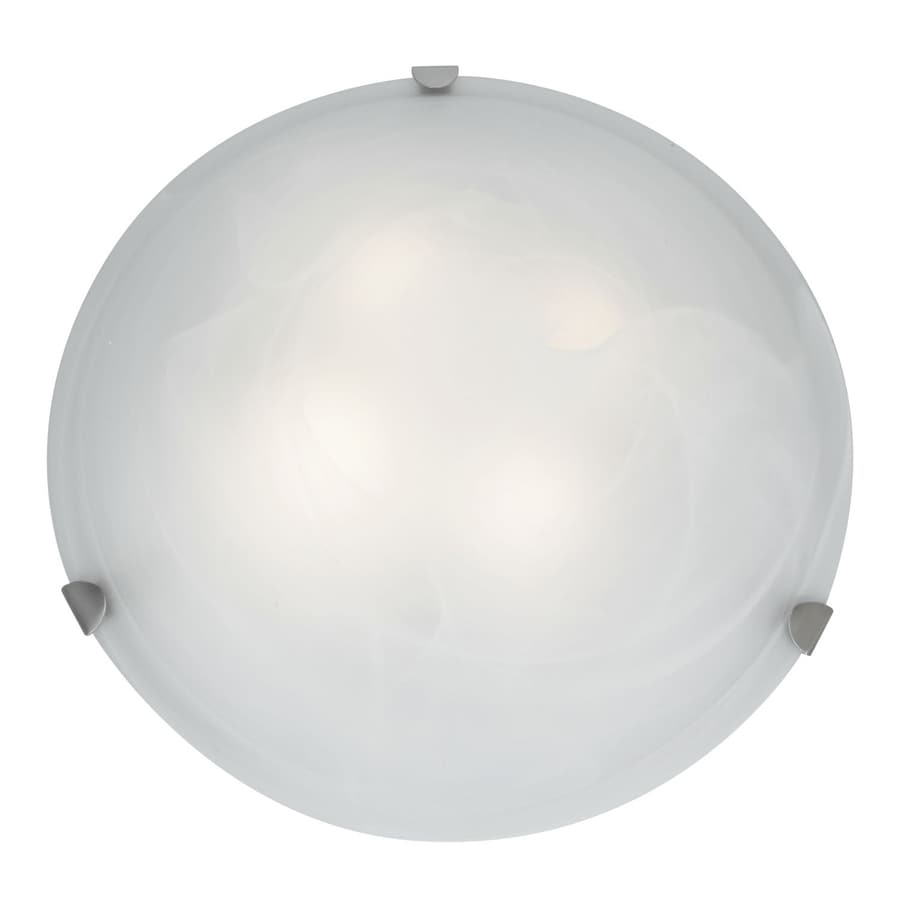 Access Lighting Mona 20-in W Brushed Steel Flush Mount Light