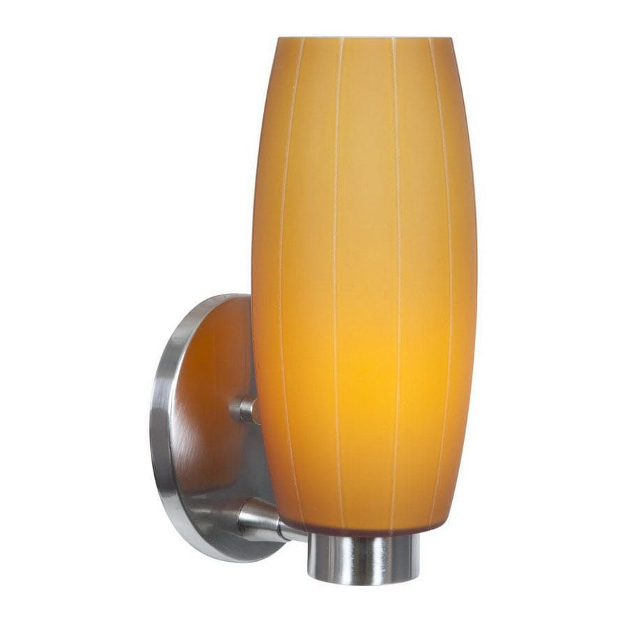 Shop Access Lighting 6-in W Pearl 1-Light Brushed Steel Art Glass ...