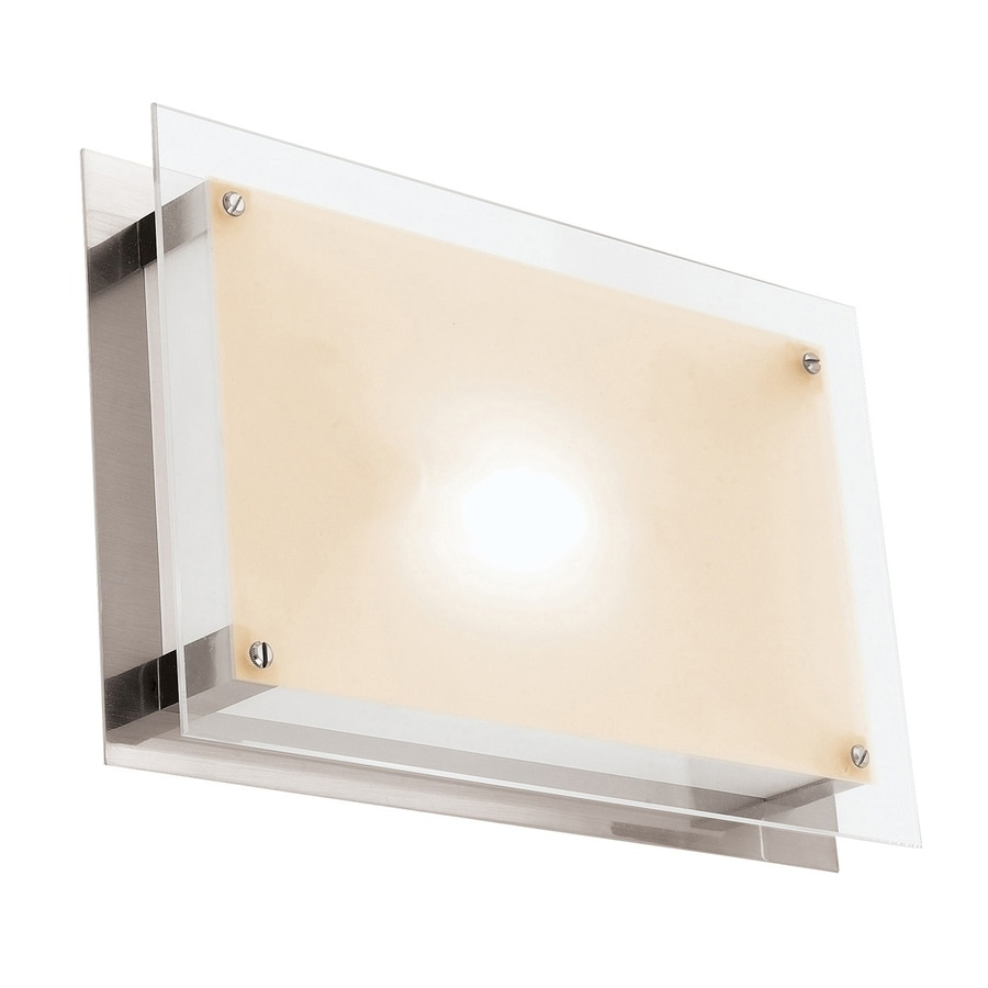 Access Lighting Vision 10-in W 1-Light Brushed Steel Pocket Hardwired Wall Sconce