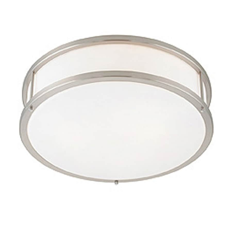 Access Lighting Conga 16-in W Brushed Steel Flush Mount Light