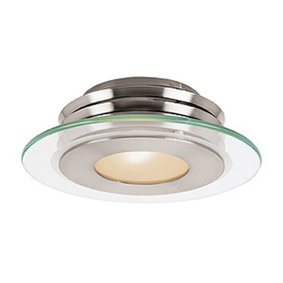 Access Lighting Helius 12-in W Brushed Steel Ceiling Flush Mount Light
