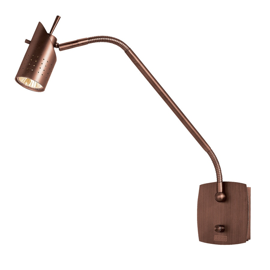 Access Lighting Odyssey 5.5-in W 1-Light Bronze Arm Wall Sconce