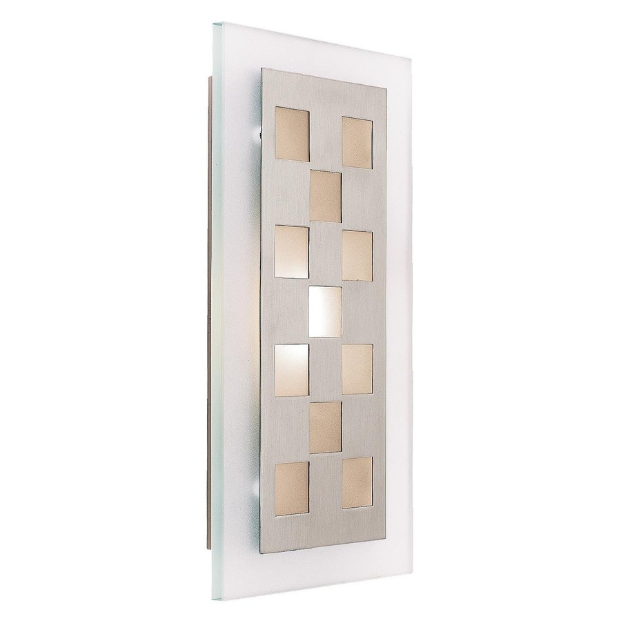 Access Lighting Aquarius 8-in W 1-Light Brushed steel Pocket Wall Sconce