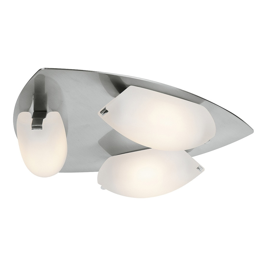 Access Lighting Nido 14.25-in W 1-Light Matte Chrome Hardwired Wall Sconce