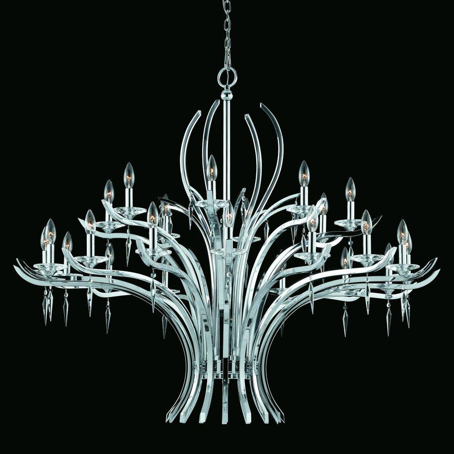 Shop triarch international allure 24 light chrome crystal accent triarch international allure 24 light chrome crystal accent chandelier arubaitofo Gallery