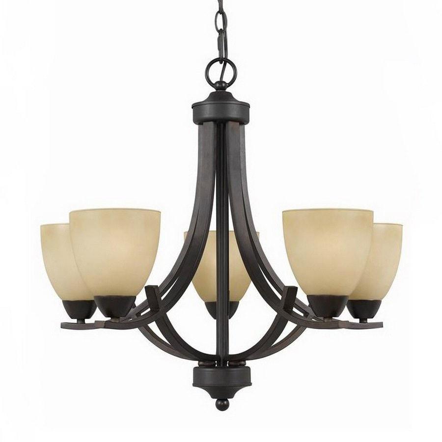 Triarch International Value Series 240 5 Light English Bronze Chandelier