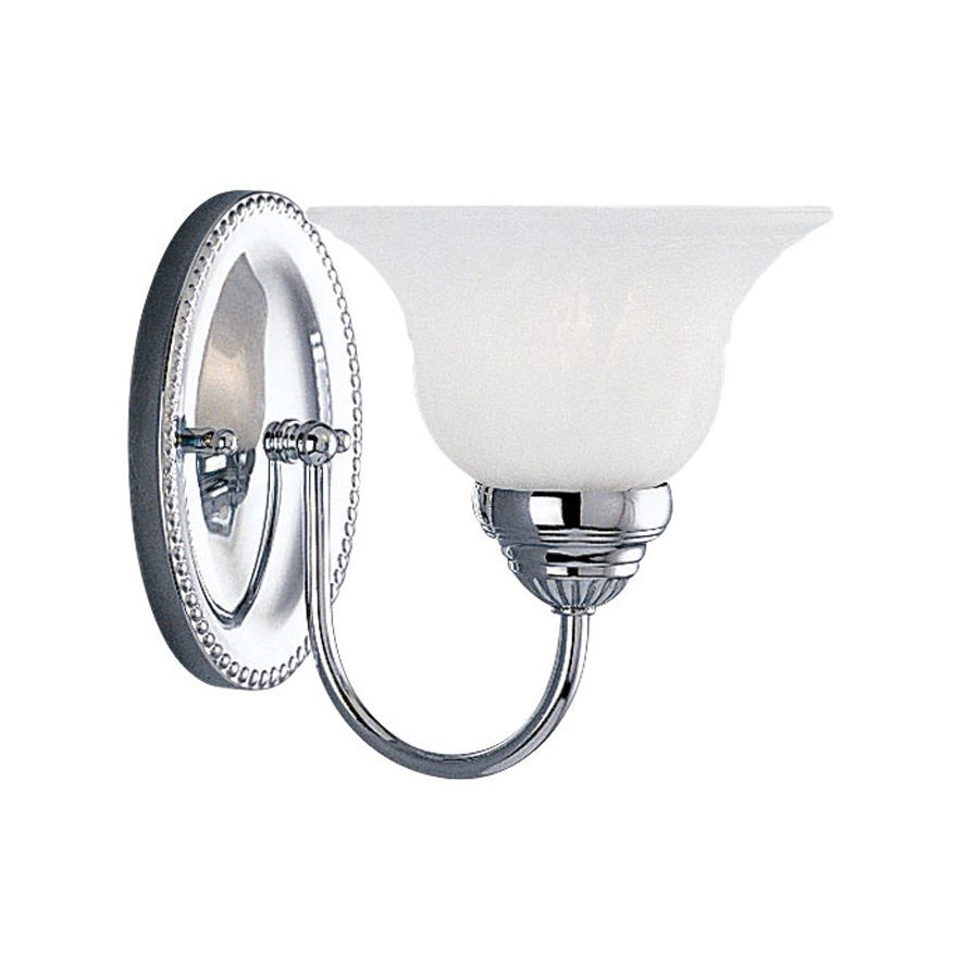 Livex Lighting Edgemont 7-in W 1-Light Chrome Arm Wall Sconce