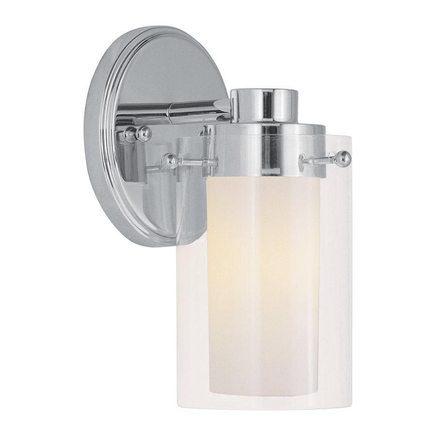 Livex Lighting Manhattan 5-in W 1-Light Chrome Arm Wall Sconce